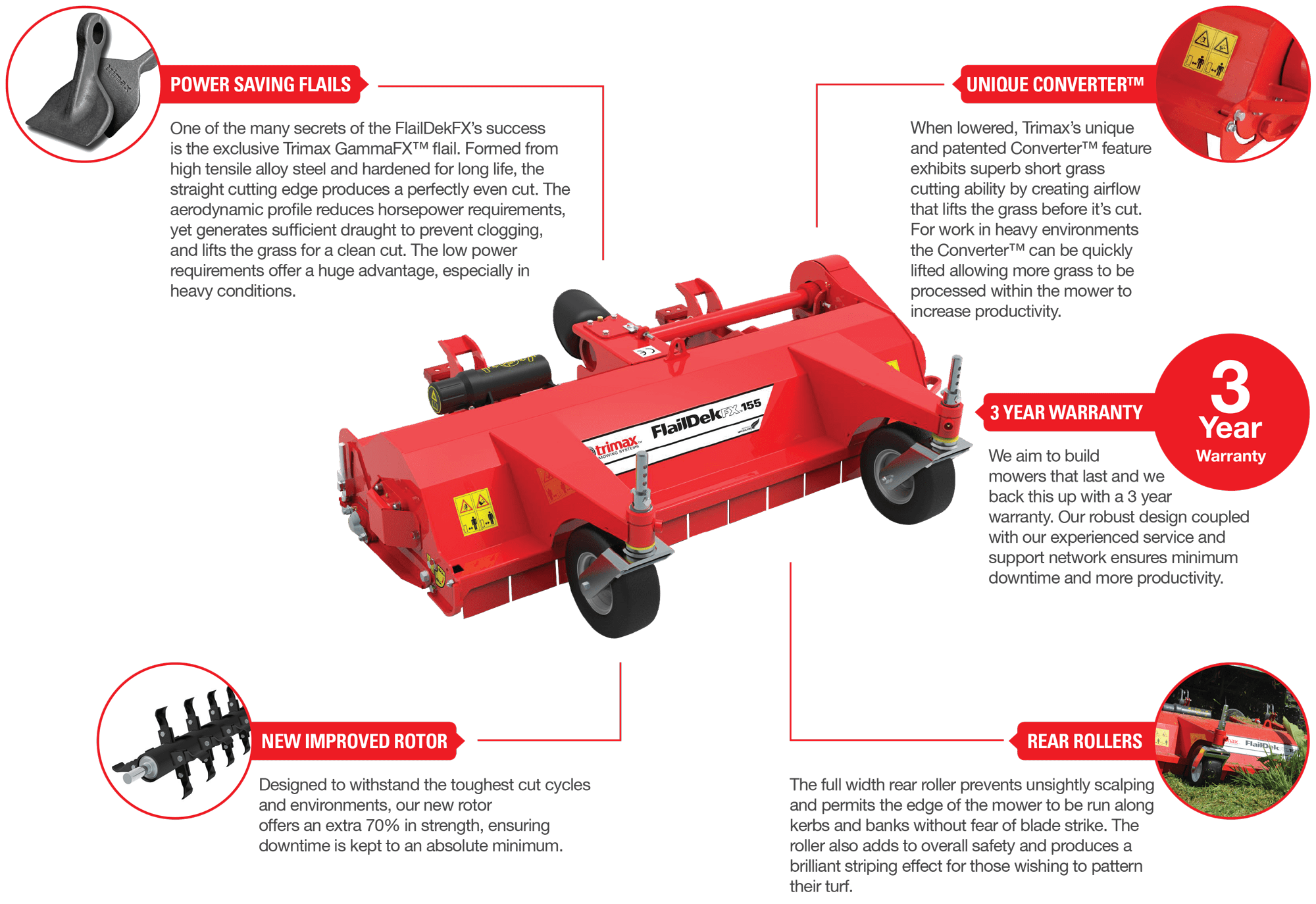 Trimax Flaildek Mower Features