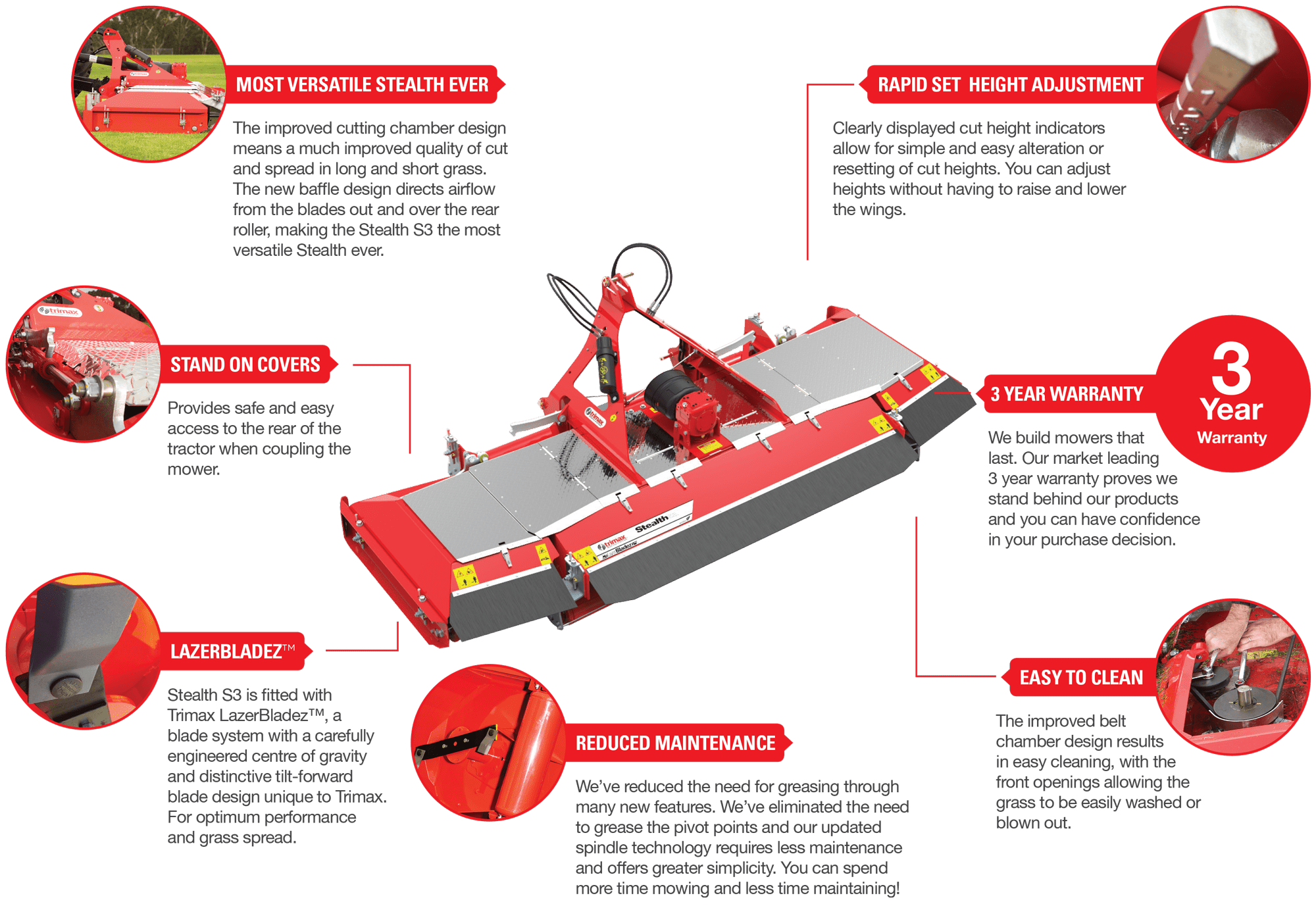 Trimax Stealth Mower Features