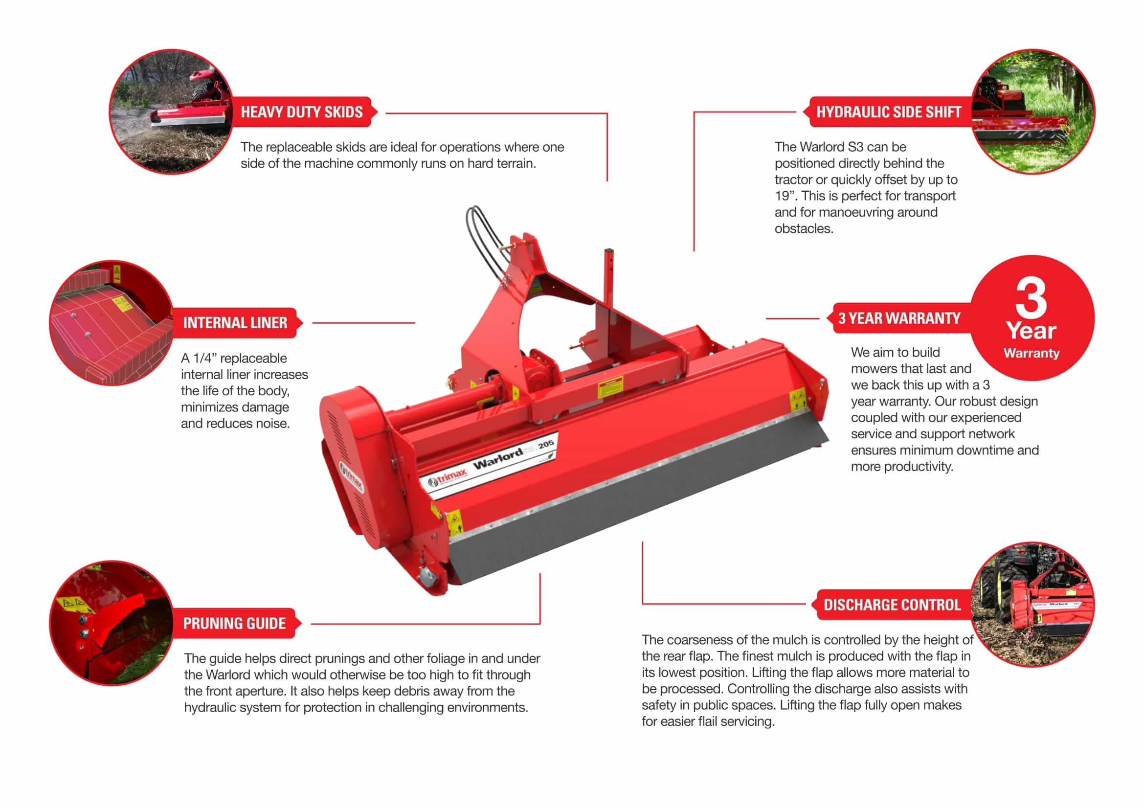 Trimax Warlord Mower Features