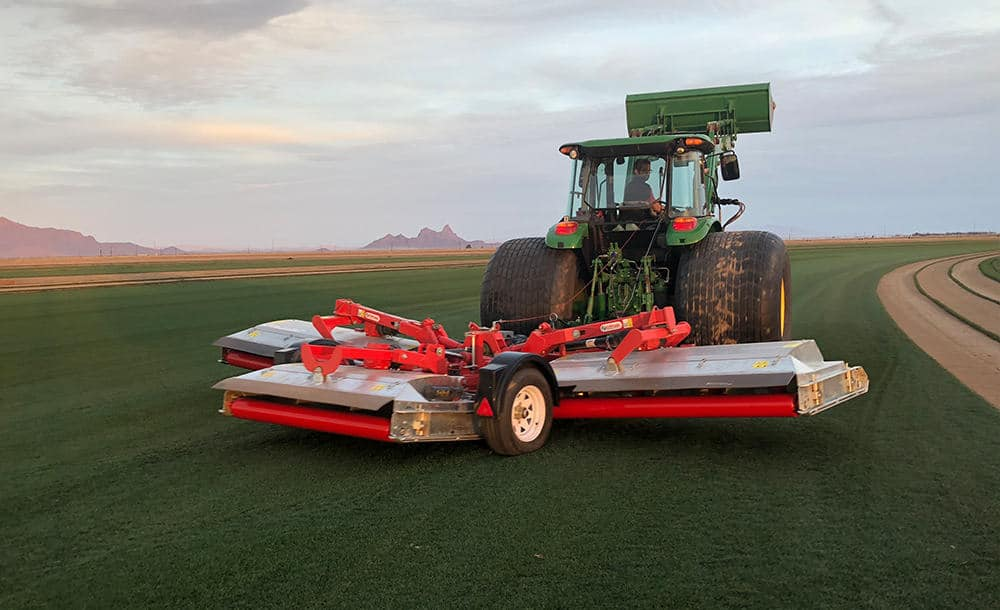 New Trimax attached to a tractor